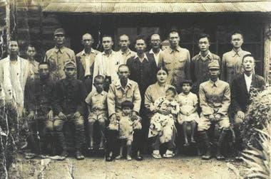 Une photo avant de partir en guerre