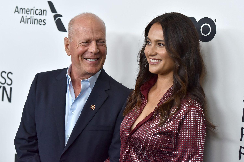 Bruce Willis et Emma Heming, lors d'une première à New York en octobre dernier.
